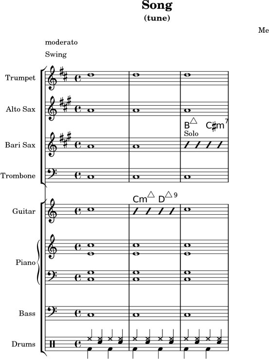 LilyPond Learning Manual: A 7 1 Jazz combo