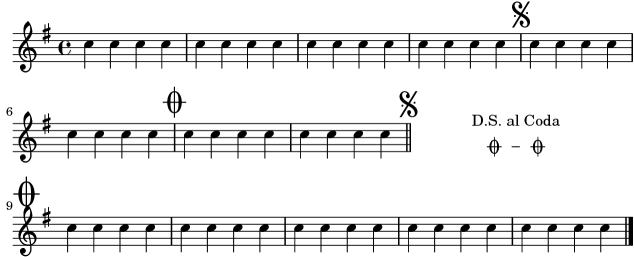 LilyPond snippets: Repeats