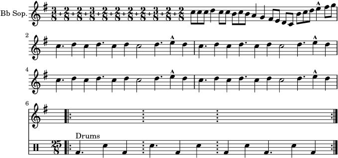 Lilypond Snippets Percussion