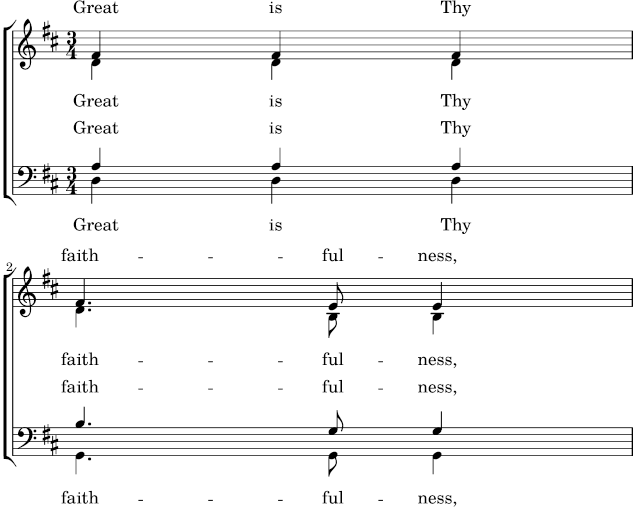 LilyPond snippets: Vocal music