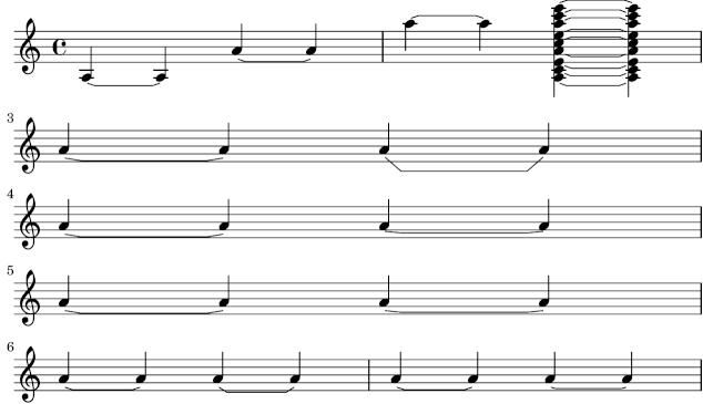 LilyPond snippets: Staff notation