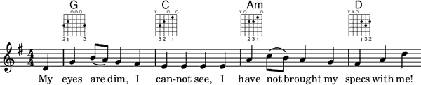 Emusicware.info: Lilypond lead sheet