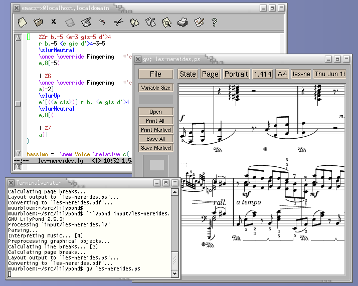 LilyPond – Music notation for everyone: Text input